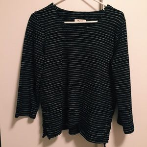 Madewell Sweater, size small, navy & white
